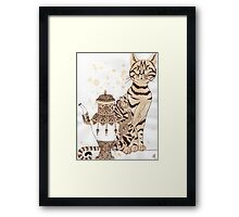 Cat-tea  Framed Print
