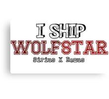 I Ship wolfstar Canvas Print
