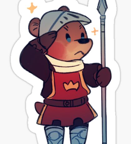 Sticker - bear knight Sticker