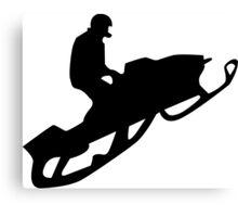 snowmobile : silhouettes Canvas Print