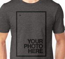 Your photo here - black - shirt - frame - design - clean - for date Unisex T-Shirt