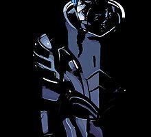 Garrus Vakarian - Mass Effect (Black Background) by Mellark90