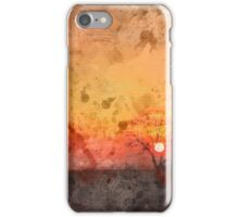Winter Sunset Watercolour iPhone Case/Skin