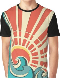 Sunny waves Graphic T-Shirt