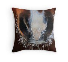 Horse Snout Throw Pillow