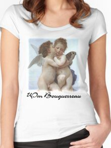 William Bouguerreau - First Kiss Women's Fitted Scoop T-Shirt