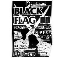 Old Black Flag Flyer Poster