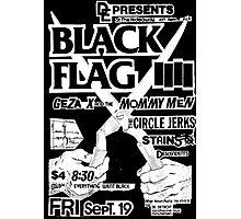 Old Black Flag Flyer Photographic Print