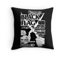 Old Black Flag Flyer Throw Pillow