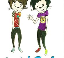Dan and Phil by ThatBlondPerson