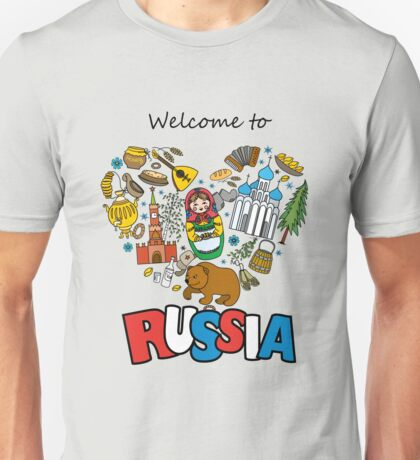 Welcome to Russia. Russian symbols, travel Russia Unisex T-Shirt