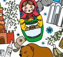 Welcome to Russia. Russian symbols, travel Russia Sticker
