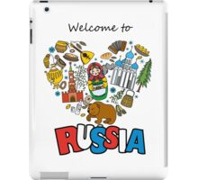 Welcome to Russia. Russian symbols, travel Russia iPad Case/Skin
