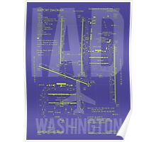 IAD Washington Airport Diagram Poster
