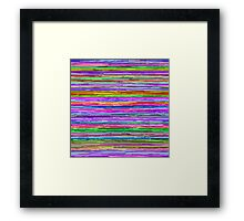 Glitch Lines Framed Print