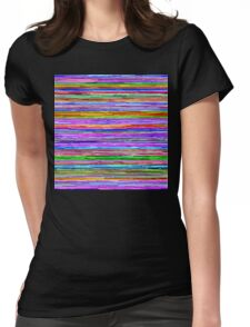 Glitch Lines Womens Fitted T-Shirt