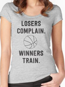 Losers Complain, Winners Train for Basketball Women's Fitted Scoop T-Shirt
