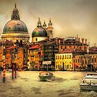 Sunset on the Grand Canal Venice by Tarrby