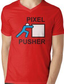 PIXEL PUSHER Mens V-Neck T-Shirt