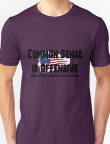 Common Sense is Offensive United States of the Offended Flag Shirt, Poster, Stickers, Cards, Pillows, Cases Unisex T-Shirt