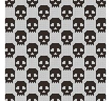 Knitted skull pattern Photographic Print