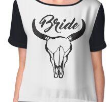 Bachelorette Southern Bride Chiffon Top
