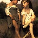 William Bouguerreau - The Young Bathers by William Martin
