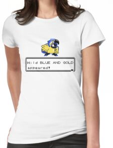 Blue and Gold Sprite Womens Fitted T-Shirt