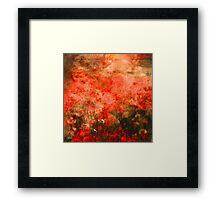 Poppy Field at Sunset Watercolour Framed Print