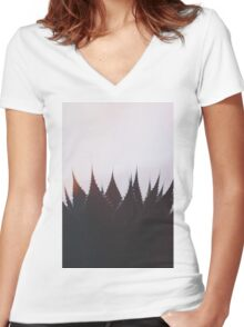 Evening Mood Women's Fitted V-Neck T-Shirt