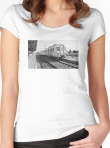Just a train at the railway station Women's Fitted Scoop T-Shirt