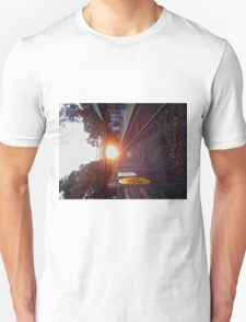 Sun Rise on the Tracks Unisex T-Shirt