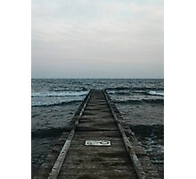 Blue Dark Mood Photographic Print