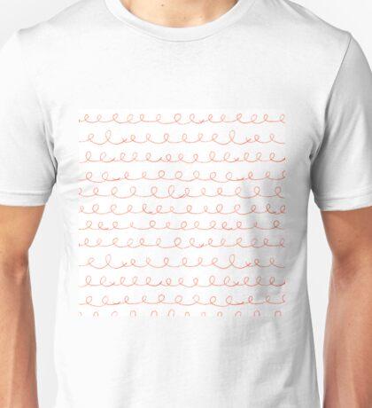 Pencil doodle waves Unisex T-Shirt