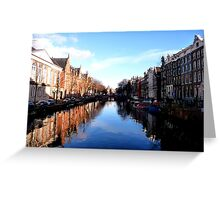 amazing Amsterdam reflections Greeting Card