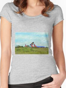 Big Planes On The Prairie  Women's Fitted Scoop T-Shirt