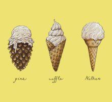 Pine, Waffle, Nathan Kids Tee