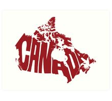 Canada Type Map Art Print