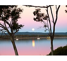 Framing the Super Moon! Tin Can Bay, Queensland. Photographic Print
