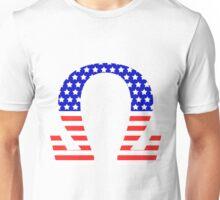 Chi Symbol American Flag Design Unisex T-Shirt