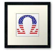 Chi Symbol American Flag Design Framed Print