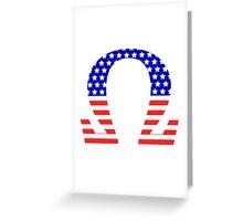 Chi Symbol American Flag Design Greeting Card