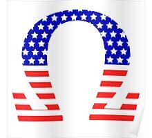Chi Symbol American Flag Design Poster