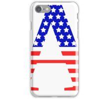 Alpha Symbol American Flag Design iPhone Case/Skin