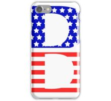 Beta Symbol American Flag Design iPhone Case/Skin