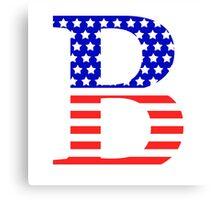 Beta Symbol American Flag Design Canvas Print
