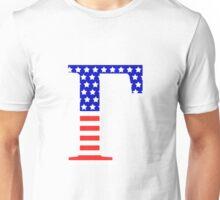 Gamma Symbol American Flag Design Unisex T-Shirt