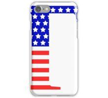 Gamma Symbol American Flag Design iPhone Case/Skin