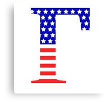 Gamma Symbol American Flag Design Canvas Print