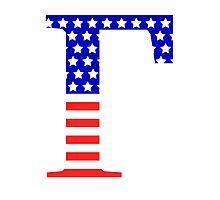 Gamma Symbol American Flag Design Photographic Print